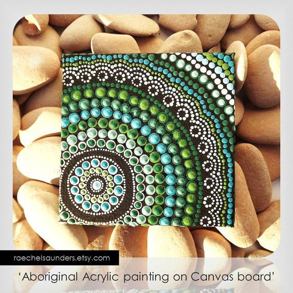 Coastal Art Dot Painting Aboriginal Art small by RaechelSaunders, $20.00