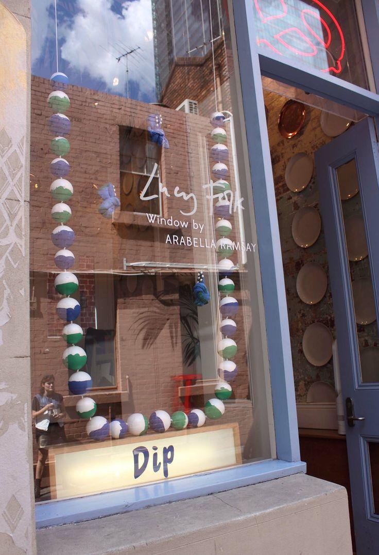 Lucy Folk Flagship - DIP Window Installation (as part of the Virgin Australia Melbourne Fashion Festival Windows By Design Exhibition)