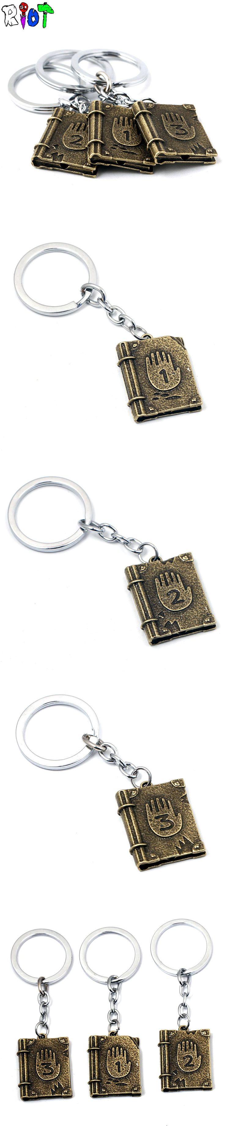 Gravity Falls Journal3 keychain Diepsloot diary LOGO alloly keyring Hard Back key chains children jewelry gift chaveiro necklace