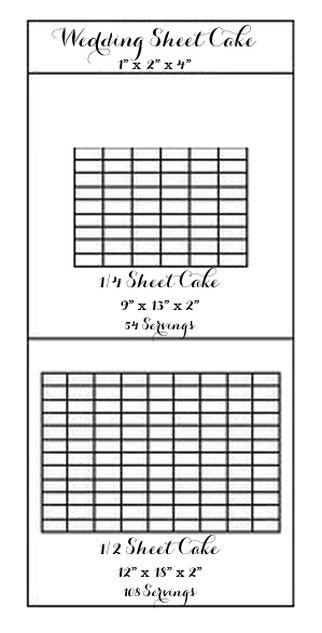 Wedding Sheet Cake Cake Sheet Serving Chart