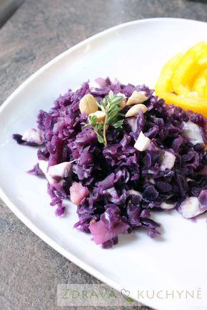 ČERVENÉ ZELÍ S JABLKY A MOZZARELLOU | Zdravá kuchyně