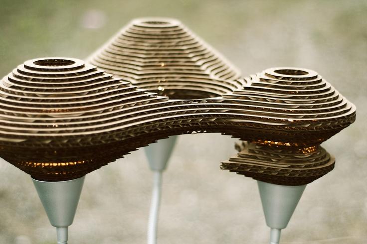 Recycled Cardboard Lamp
