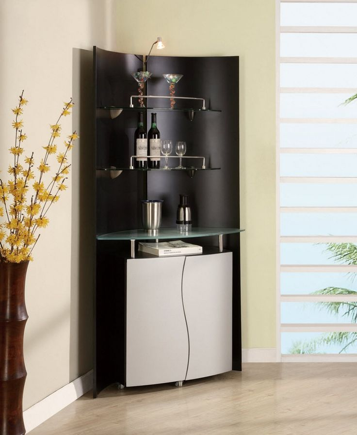 A cool and contemporary corner unit   global furniture USA Corner Home Bar  Unit in Black and Silver. 238 best Global Furniture images on Pinterest   Home furniture