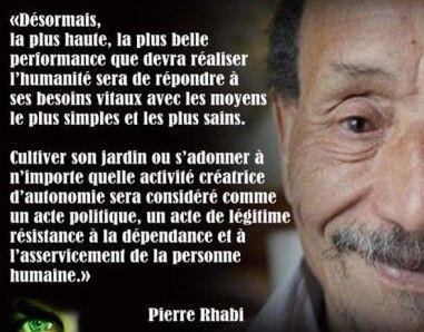 Performance de l'humanité - Pierre Rhabi