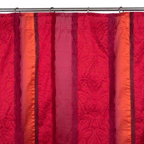 MADURA | le rideau galon fronceur Chenonceau aux motifs stylisés et jeux de matières.