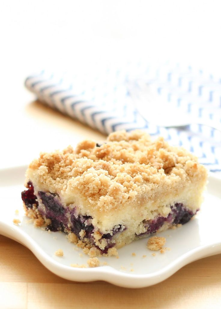 Blueberry Lemon Coffee Cake (gluten free and traditional recipes included) by Barefeet In The Kitchen