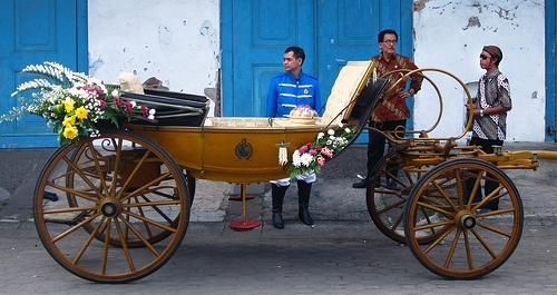 "Kereta Kyai Rojo Peni Keraton Surakarta ( ""Rojo Peni"" Royal Carriage of The Surakarta Palace).This is a royal carriage from the Surakarta palace. The landau-type carriage is used to carry the princesses of the Surakarta palace."