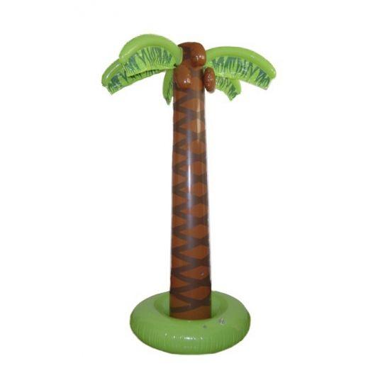 Opblaasbare palmboom voor prachtige tropische decoratie. Formaat van deze opblaasbare palmbomen is ongeveer 183 cm. Palmbomen decoratie kunt u goed gebruiken voor een hawaii of tropische feest.