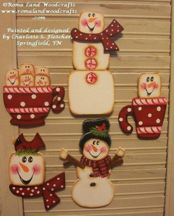 PATTERN for MARSHMALLOWS Christmas Ornaments от RomaLandWoodcrafts