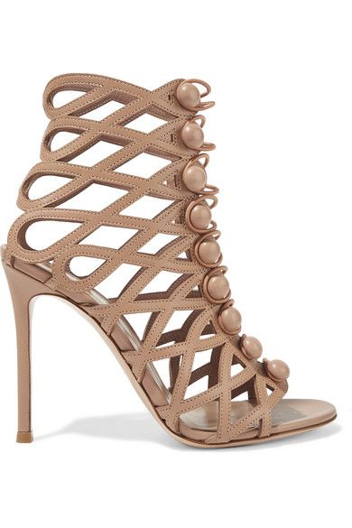Gianvito Rossi - Leather Sandals - Beige - IT37.5
