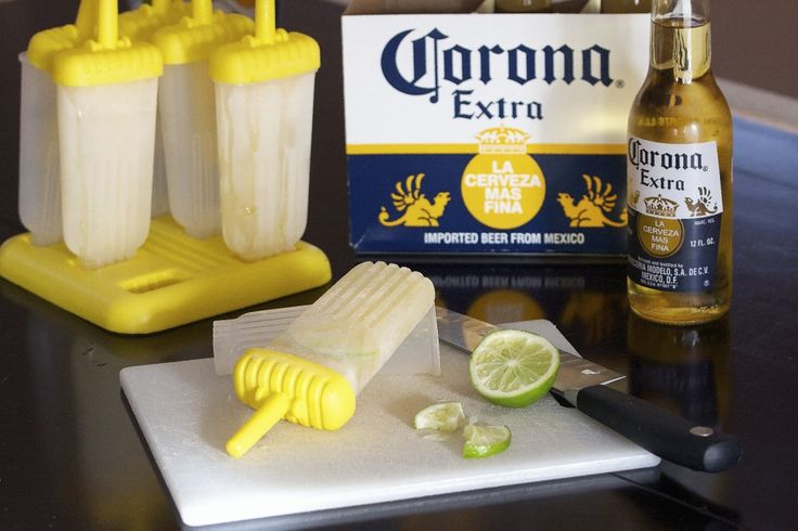Corona popsicles! have to try this in the summer