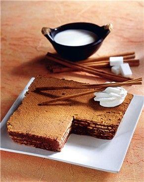 Pastel de galletas con chocolate especiado -- Mujerhoy.com --