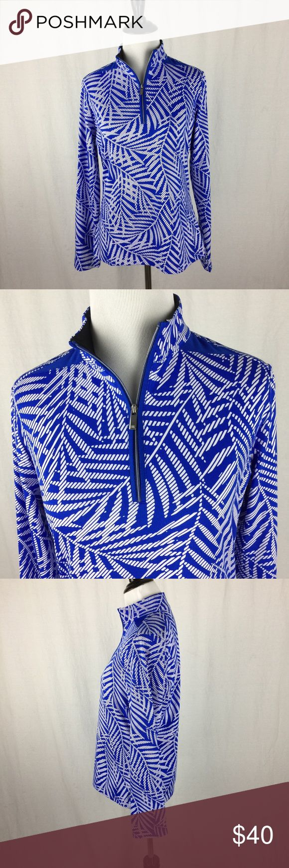 """Tail Activewear Women's Cordele Long Sleeve Size S Tail Activewear Women's Cordele Long Sleeve Mock Palm Size S. Brushed Jersey. Zipper Placket. UPF 50. 92% Polyester, 8% Spandex. Gently worn condition. No stains, tears, or flaws.  Approximate measurements lying flat: Pit to pit: 19"""" Shoulders: 15"""" Sleeve length: 24"""" Length: 24"""" IC 36 Tail Tops Sweatshirts & Hoodies"""