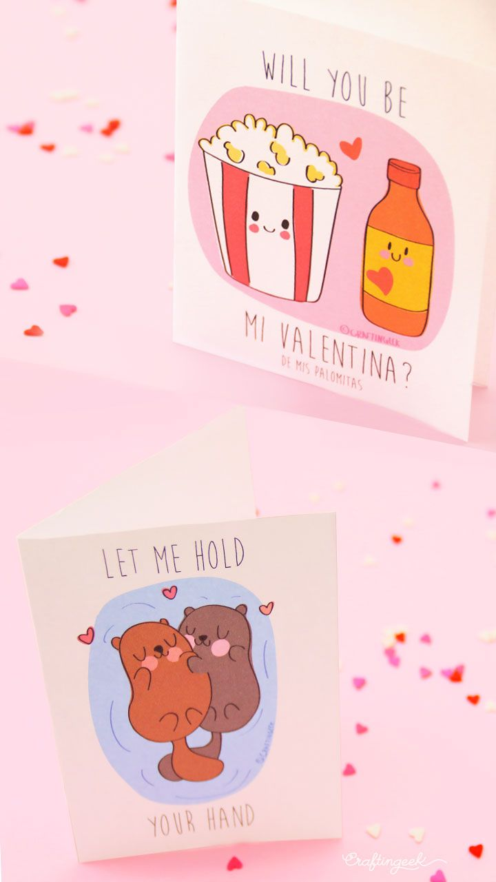 "Tarjetas de amor ""Eres la valentina de mis palomitas"" :D"