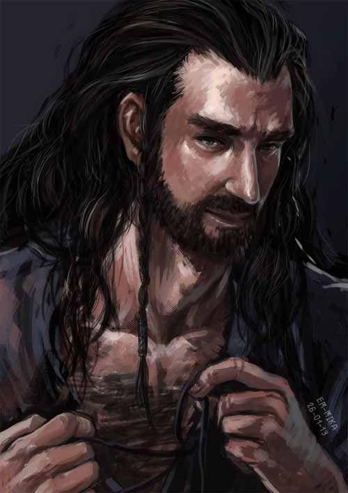 20 Ferocious Digital Illustrations of Thorin Oakenshield