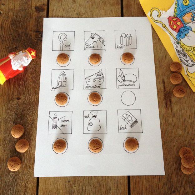 Intocht bingo, Sinterklaas, met gratis printable // VAN BRITT