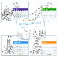 Coloriage calendrier 2015