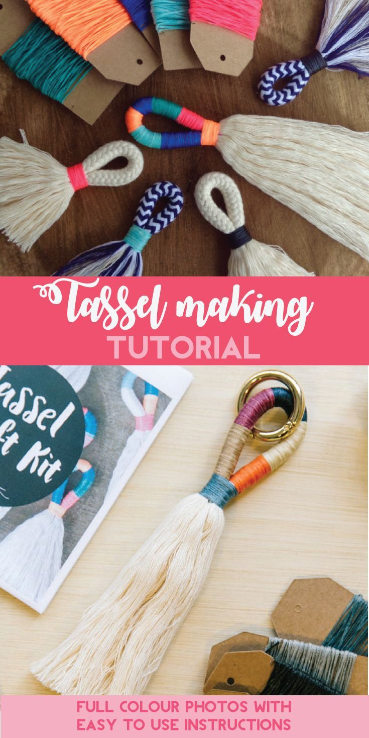 Tassel Making TUTORIAL! Make your own large or mini tassels with my ...
