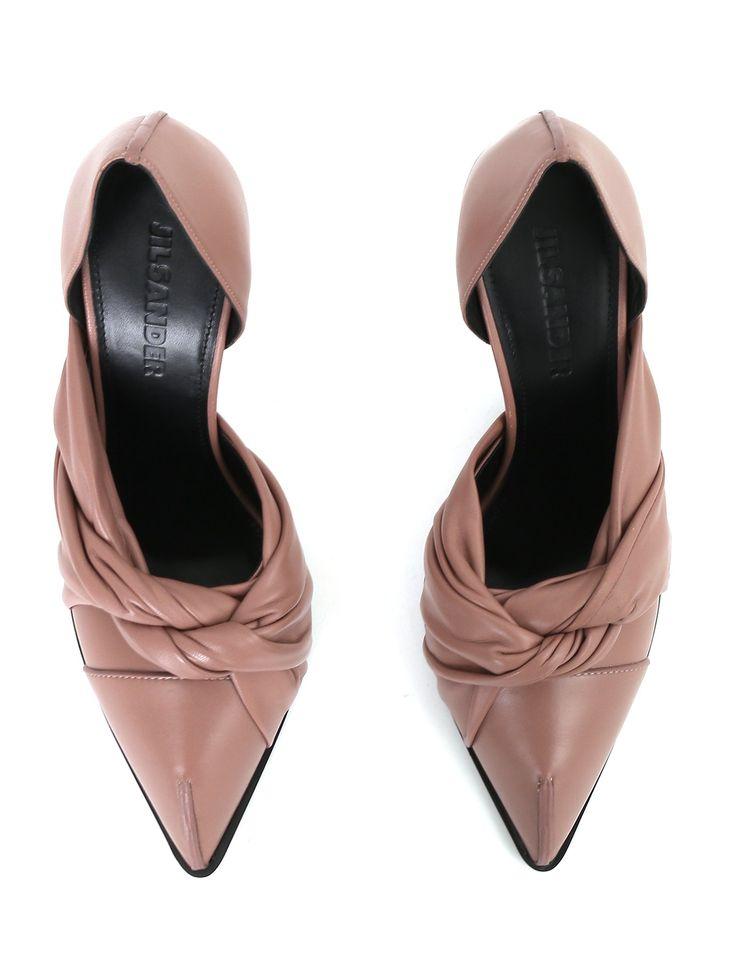 Купить Jil Sander розовые туфли из кожи на устойчивом каблуке  (223516), цена на   туфли в интернет-магазине Bosco.ru – 65 450 руб.