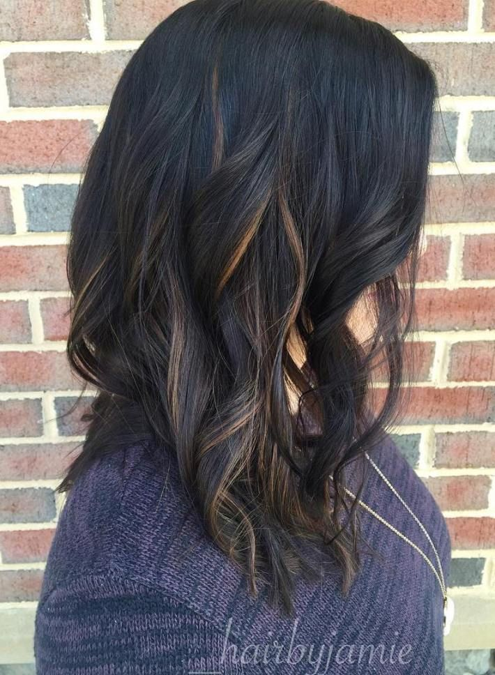 Black Hair With Babylights