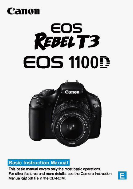 Download  Canon EOS 1100D User's Guide - Cover