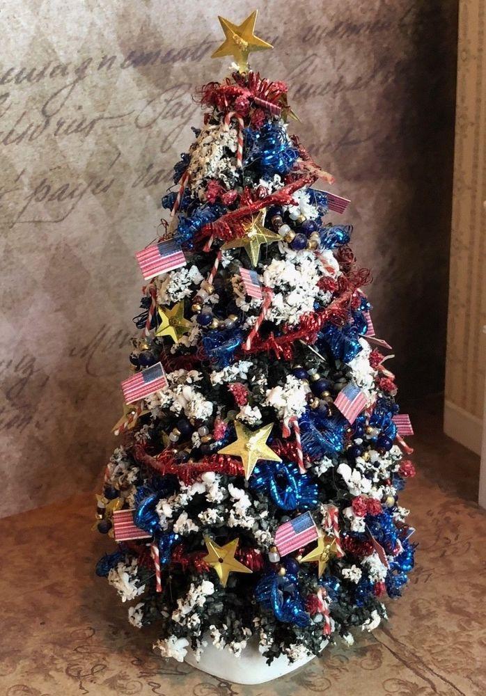 Vintage Miniature Dollhouse Christmas Tree 6\