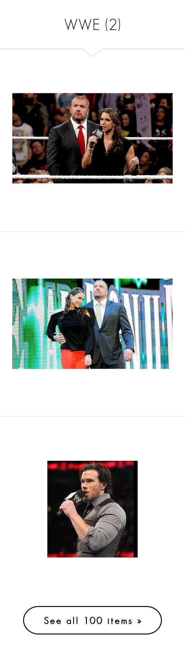 """""""WWE (2)"""" by imblissedoff ❤ liked on Polyvore featuring wwe, pictures, home, home decor, roman reigns, & - wwe, kane, paige, corey graves and dean ambrose"""
