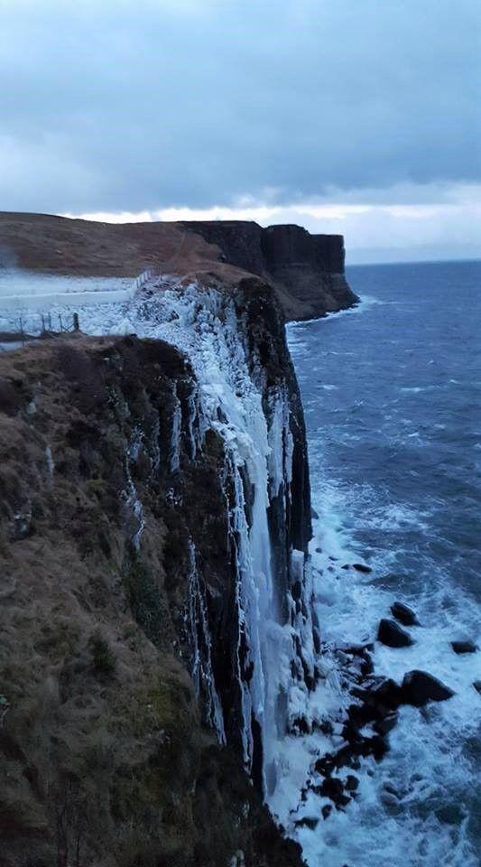 Frozen Mealt Falls on the Isle of Skye