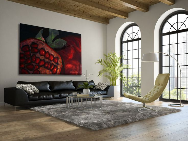 pomegranate living room contemporary with wall art cowhide novelty ...
