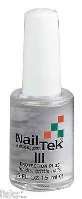 NAIL TEK FORMULA III PROTECTION PLUS ( FOR DRY BRITTLE NAILS) _ 0.5 OZ.