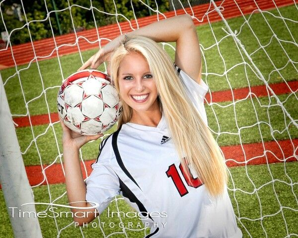 Soccer Senior Picture Ideas | Soccer | Senior Picture Ideas I really like how she's actually smiling!!