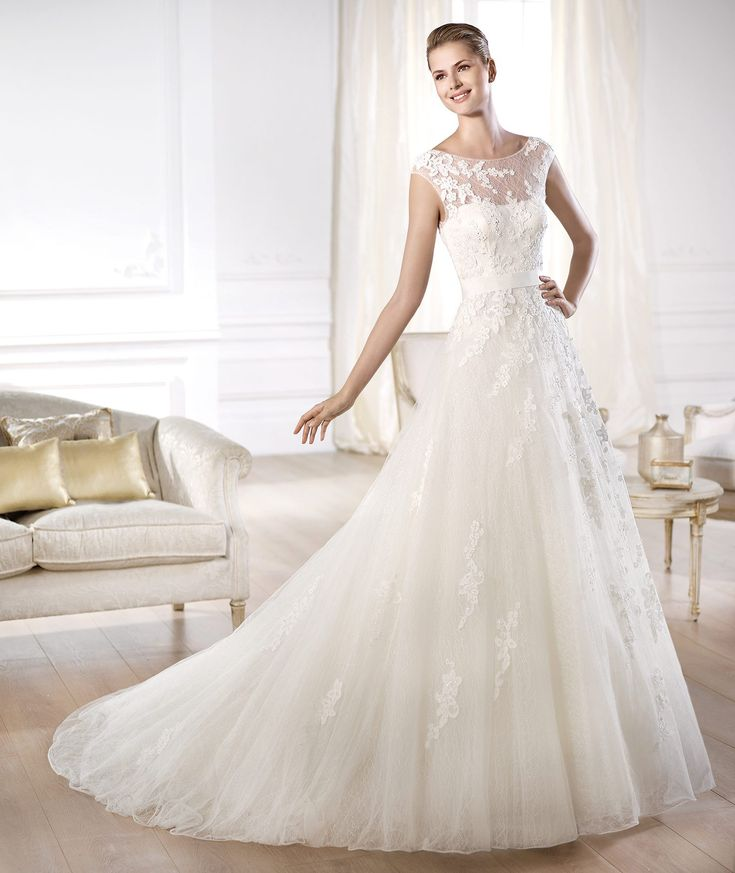 Strapless-Modern-Country-Wedding-Dress-
