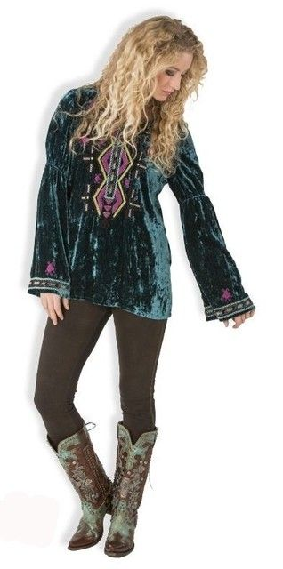 Double D Ranch Fall/Winter 2015 Gran Quivera Velvet Top! http://www.cowgirlkim.com/double-d-ranch-fall-winter-2015-gran-quivera-velvet-top.html
