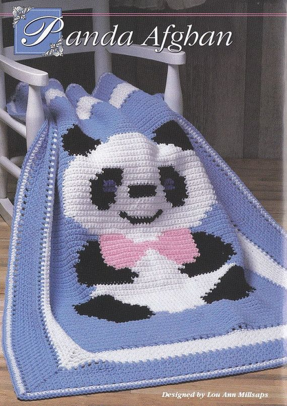 Free Teddy Bear Crochet Afghan Pattern : Panda Bear Afghan Crochet Pattern - Teddy Bear wearing a ...