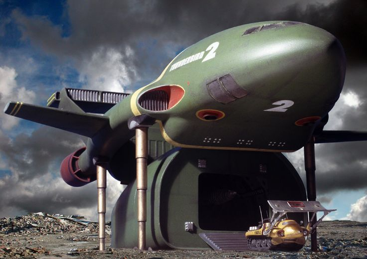 'THUNDERBIRDS': Thunderbird 2 and Firefly ✫ღ⊰n