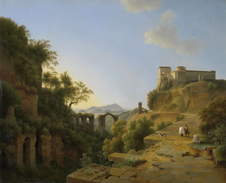 De golf van Napels met op de achtergrond het eiland Ischia, Josephus Augustus Knip, 1818