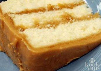 Deze caramelcake is echt lekkerder dan welke cake dan ook! Je maakt 'm heel makkelijk zelf!