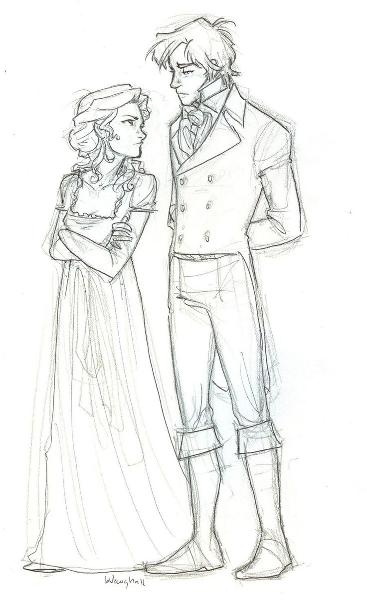 Sketch: Lizzy and Darcy