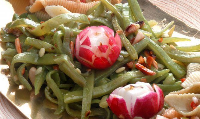 Receta de Ensalada de pasta y judías verdes