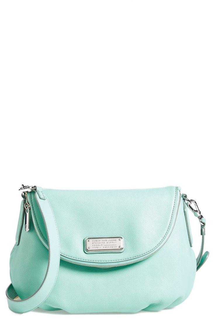 A pretty mint handbag for spring.