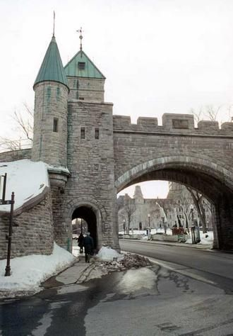 Arch in Wall around Old Quebec City- after a lot of walking we finally found these arches.  Loved it