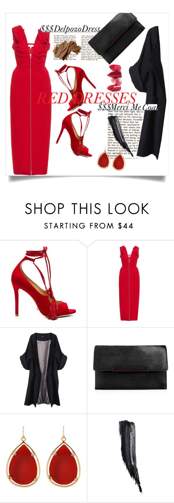 """""""Untitled #733"""" by meelstyle ❤ liked on Polyvore featuring Schutz, Delpozo, Merci Me London, White Label, Christian Louboutin, Barse, Rossetto, Tom Ford, Bobbi Brown Cosmetics and women's clothing"""