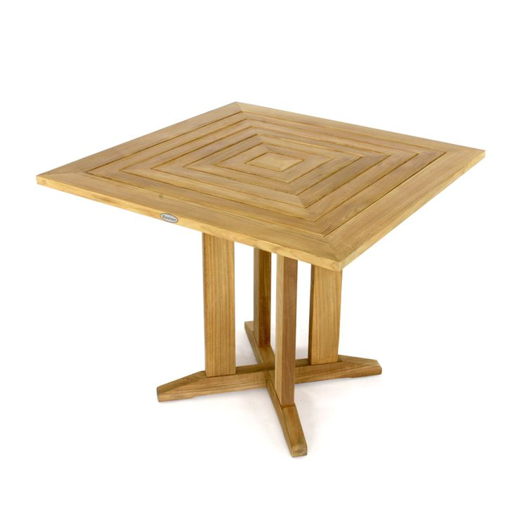 Pyramid 36in 3ft Square Teak Outdoor Dining Table From Westminster Teak  Furniture