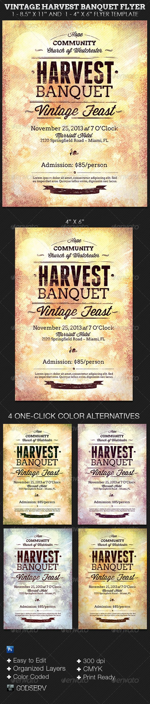 17 best images about country and western print templates on vintage harvest banquet flyer template