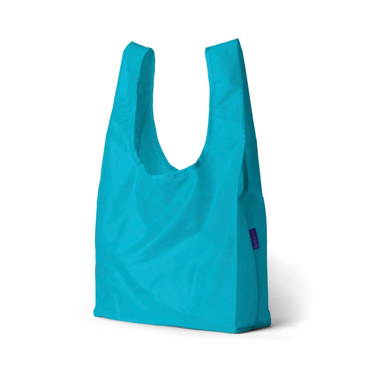 This durable and vibrant accessory holds up to 2-3 plastic grocery bags worth of stuff, or 50 lbs, and is conveniently machine washable. $6