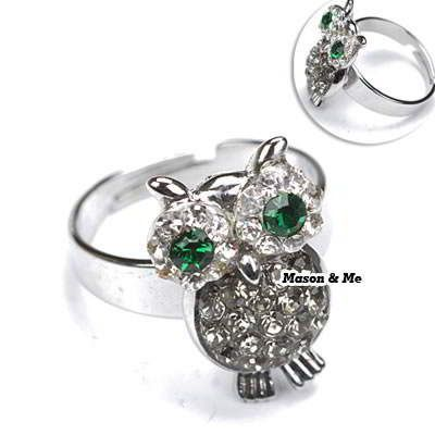 (free Size Can Be Adjust) Argent Lovely Owl Ring General. Small and catchy. REPIN if you like it.😍 Only 75 IDR