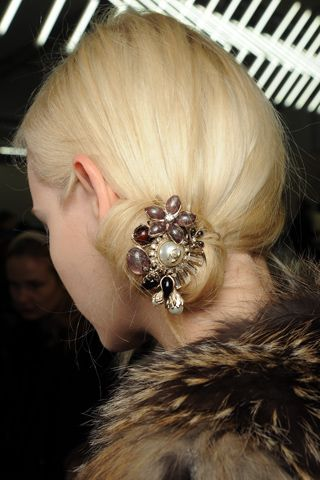 Accessorize your hair this fall: Chanel Fall 2011 hair backstage
