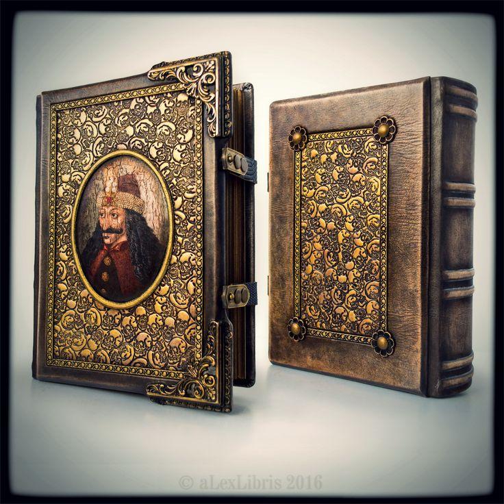 "#Vlad #Dracula - A dark leather journal for a #Dark #Prince ~ 8"" x 10.5"" ~ 600 pages ~ ultimate #sketchbook ~ #Medieval #journal"