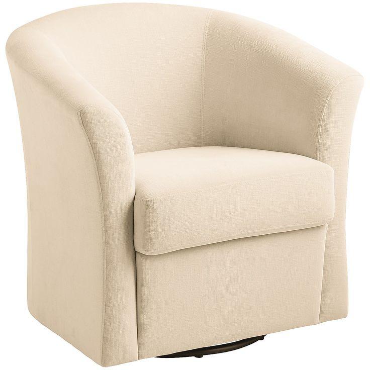 Isaac Pearl Swivel Chair Ivory