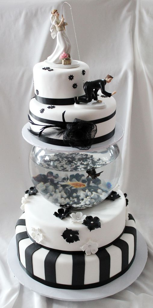 fish wedding cake ideas fishing amp groom mix and match cake topper 14300